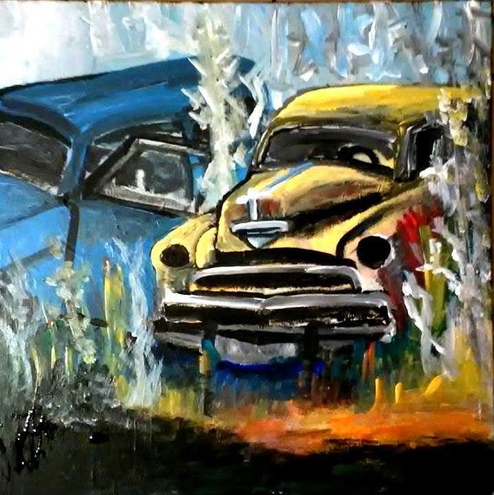 Two Junked Cars - Gregory McLaughlin - Artist