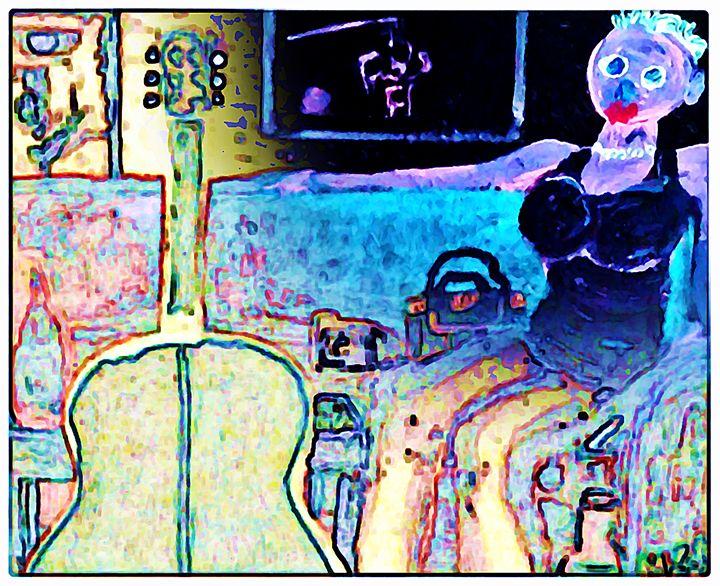 GIRL ON A BLUE COUCH - McLaughlin - Gregory McLaughlin - Artist