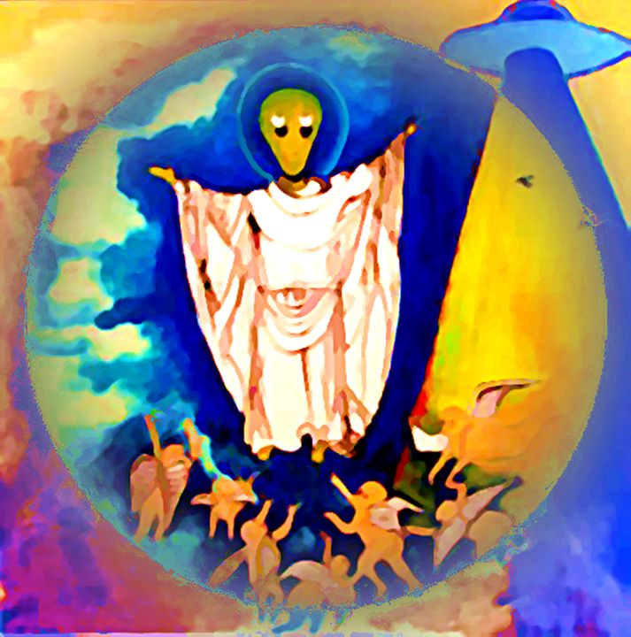 Ascension of Alien Jesus - McLaughli - Gregory McLaughlin - Artist