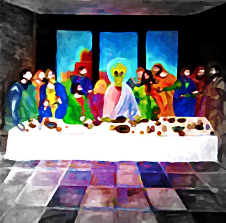LAST SUPPER OF ALIEN JESUS - Gregory McLaughlin - Artist
