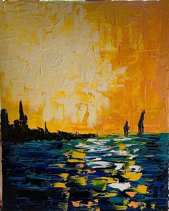 Entering the Harbor - Devon Westland's Art