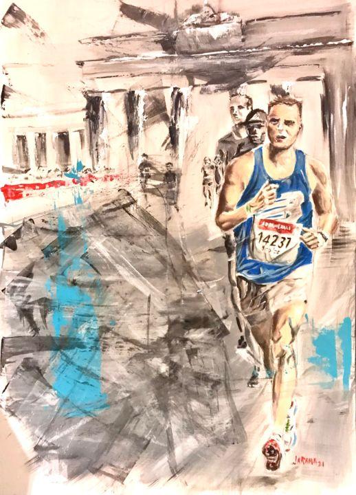 Nico's Berlin race - Fernando Jaramillo art