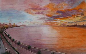 Marine Drive (Mumbai, India) Skyline