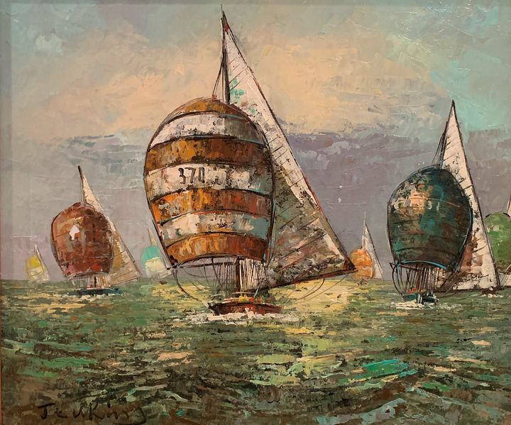 JENKINS NAUTICAL ORIGINAL OIL PAINTI - Constance Stack