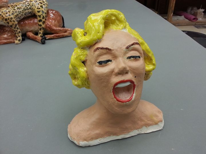 Yawning Monroe - Paul Berra's Handmade Ceramic Sculptures