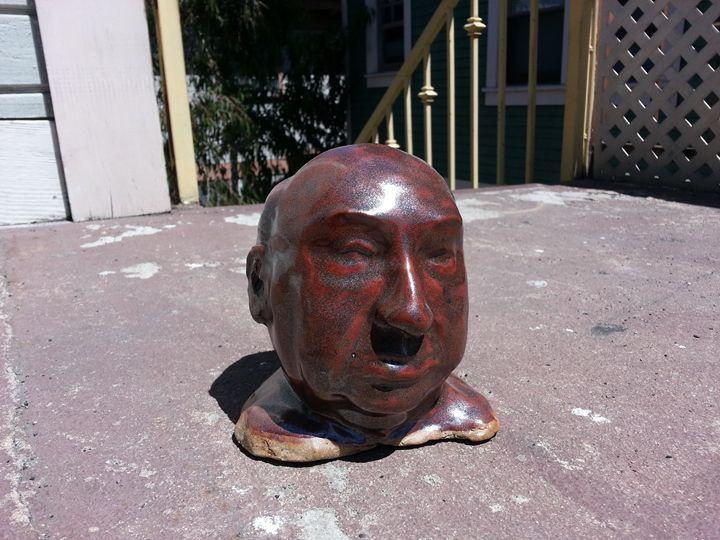 Hitchcock (4'' x 6'' x 5'') - Paul Berra's Handmade Ceramic Sculptures