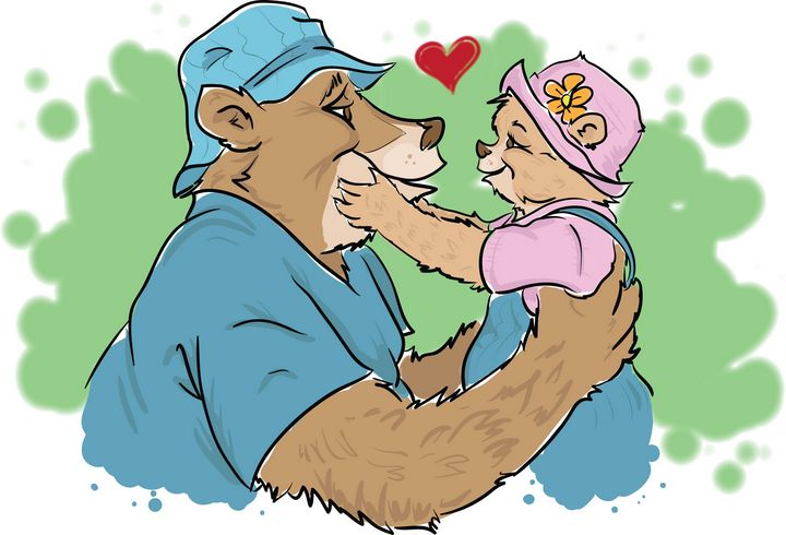 Papa Bear and his little girl - Johnny Praize