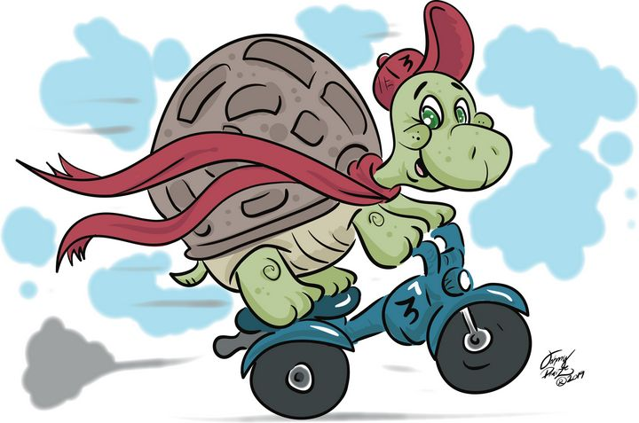 Turtle on a Scooter - Johnny Praize