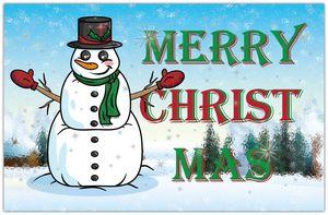Merry Christ Mas Snowman
