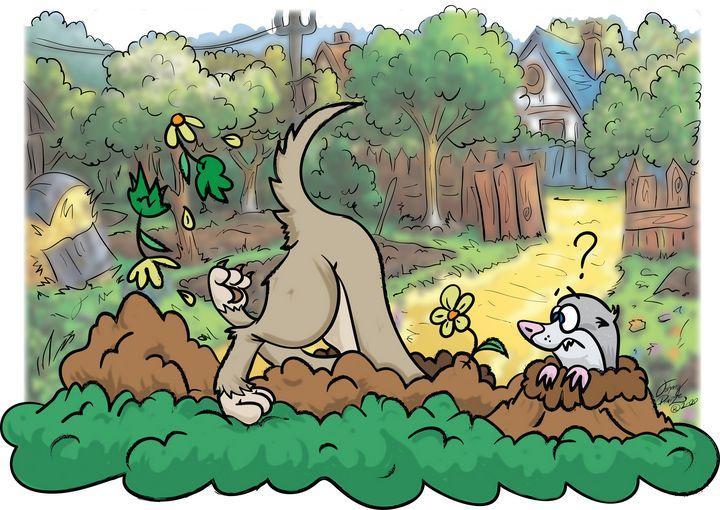 Garden Digging Doggy - Johnny Praize