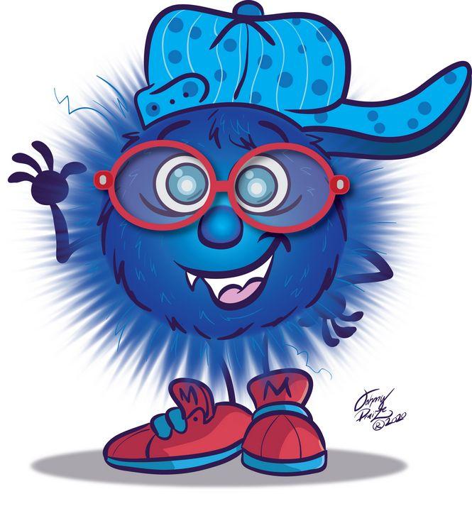 Blue Furry Monster - Johnny Praize