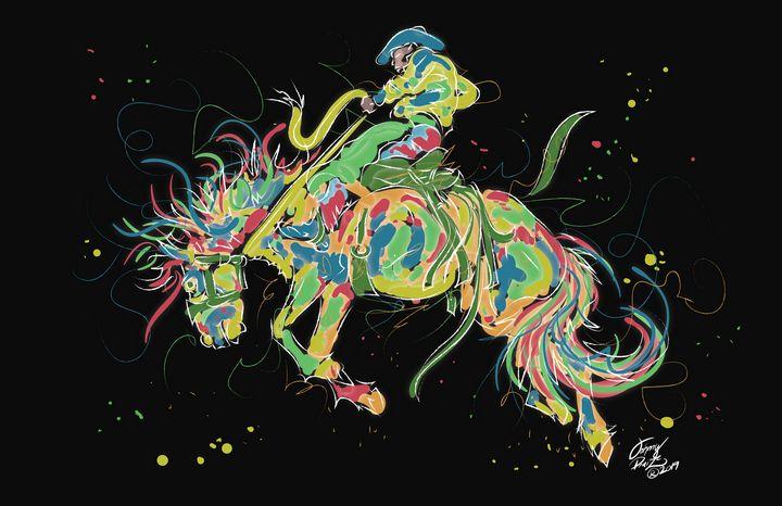 Neon Rodeo Cowboy - Johnny Praize