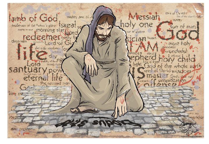 Jesus writes on Stoney Ground - Johnny Praize