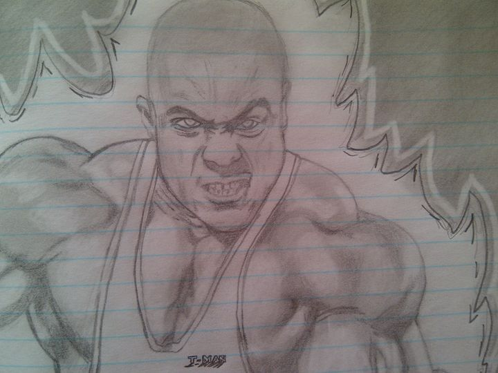 ''The gift'' super charging... - Thabo's Pencil Drawings