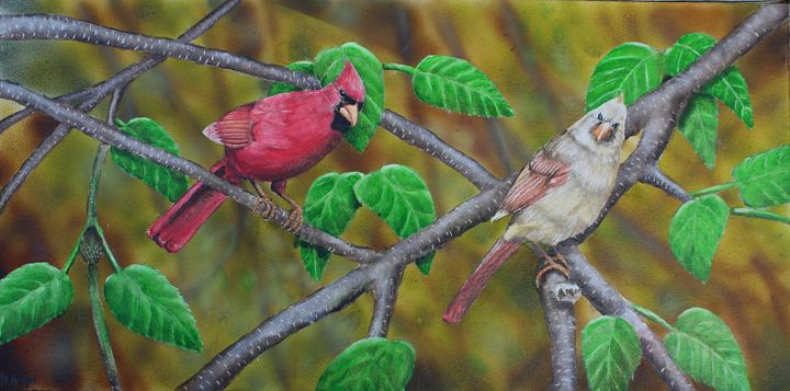 Mrs. and Mr. Cardinal - The Artful Codger