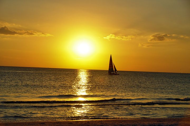 Sailing into the Sunset - Scenic America Photography