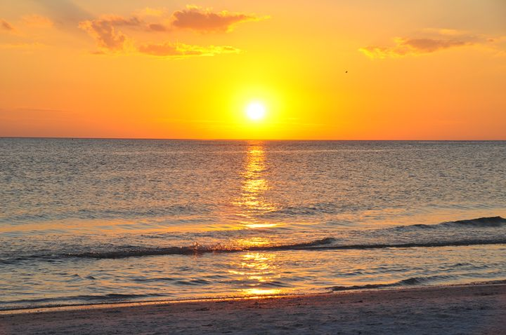 Sunset over the Gulf of Mexico - Scenic America Photography