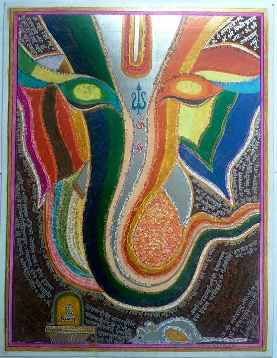 Lord Ganesha abstract - Ammaji Art Gallery