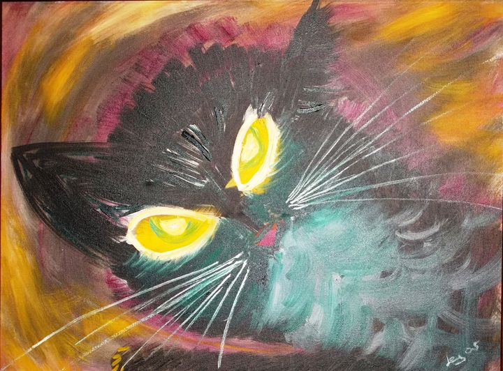 REMBRANDT CAT HEAD - ART BY LES