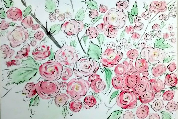 pink blossoms - GParker Artworks