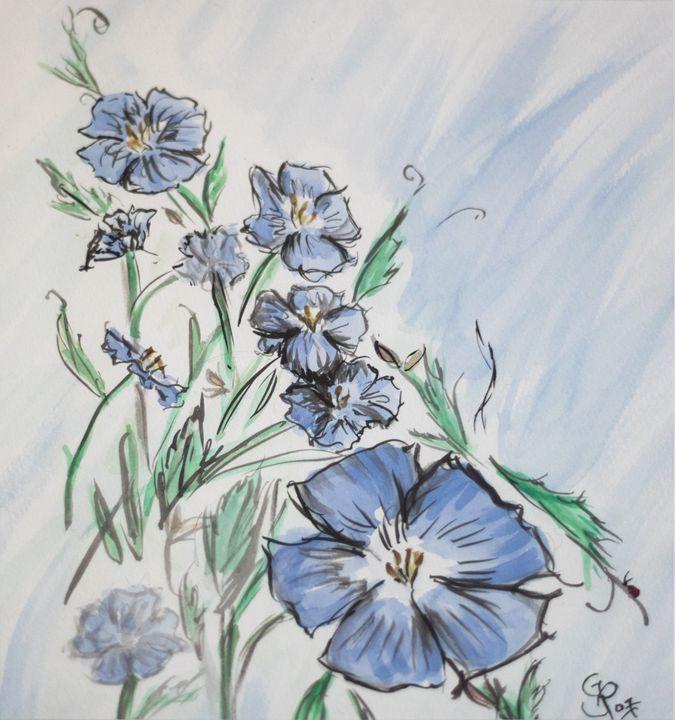 Mountain flowers - GParker Artworks