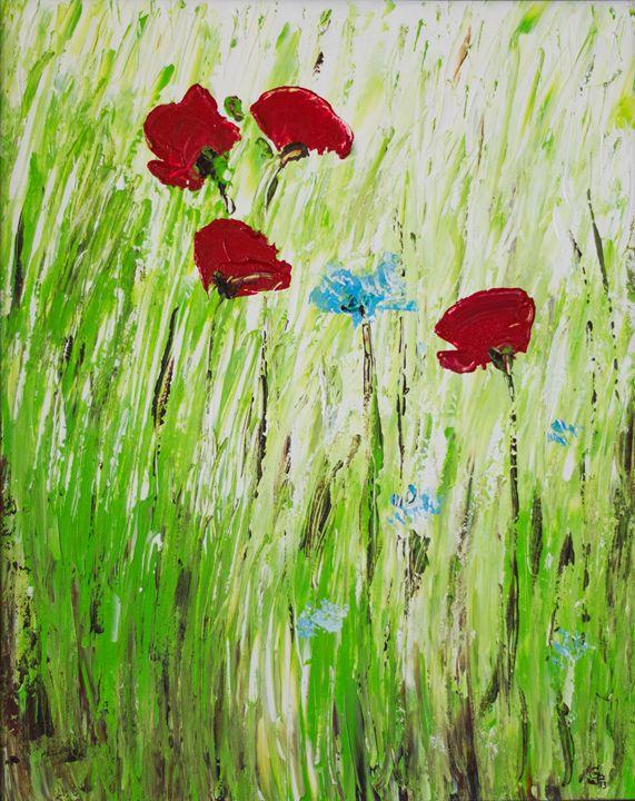 Poppies in grass - GParker Artworks