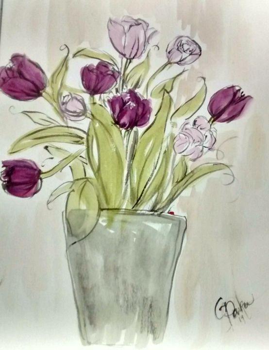 Purple Tulips - GParker Artworks