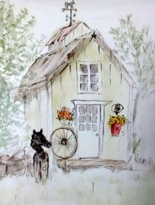country shed - GParker Artworks