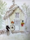 watercolor shed