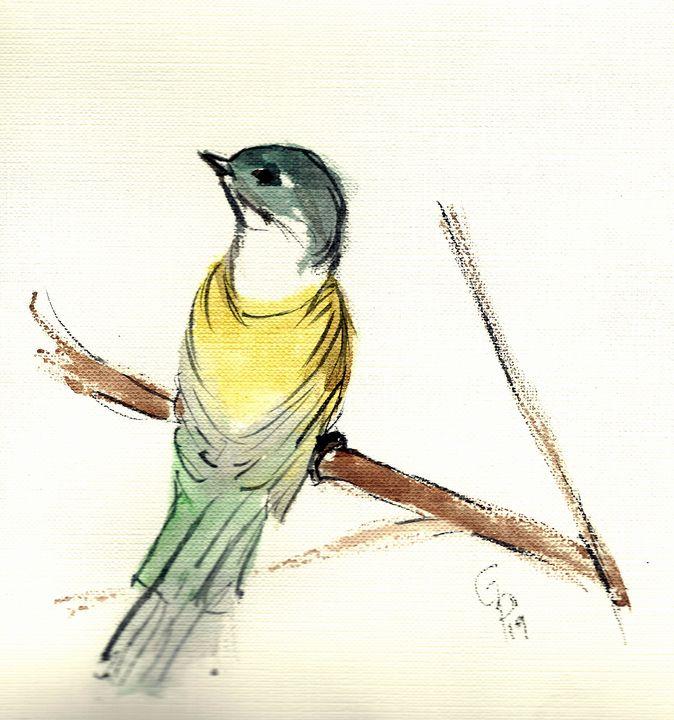 watercolor bird - GParker Artworks