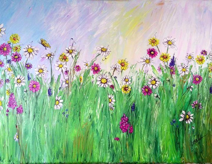 Spring Daisies - GParker Artworks
