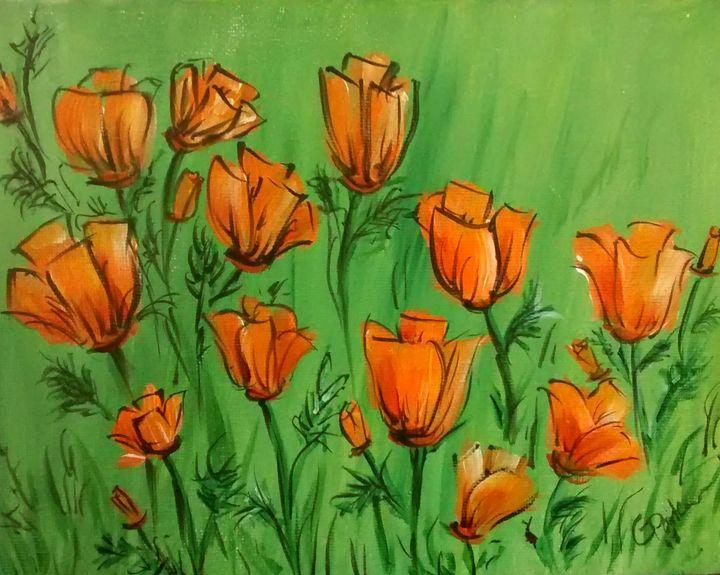 California Poppies - GParker Artworks