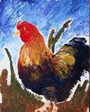 Original print of Rooster