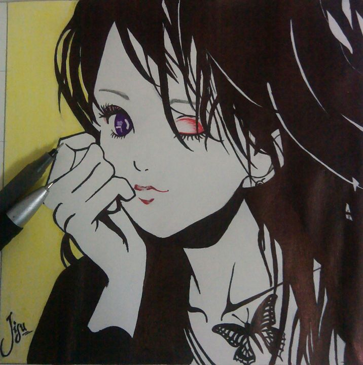 winking girl - Jisu arts
