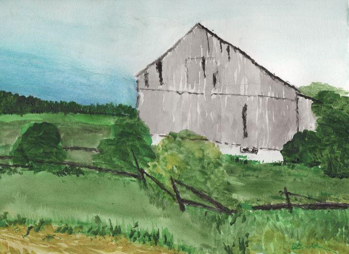 Old Bank Barn Eastern Ontario - Watercolours by Brenda