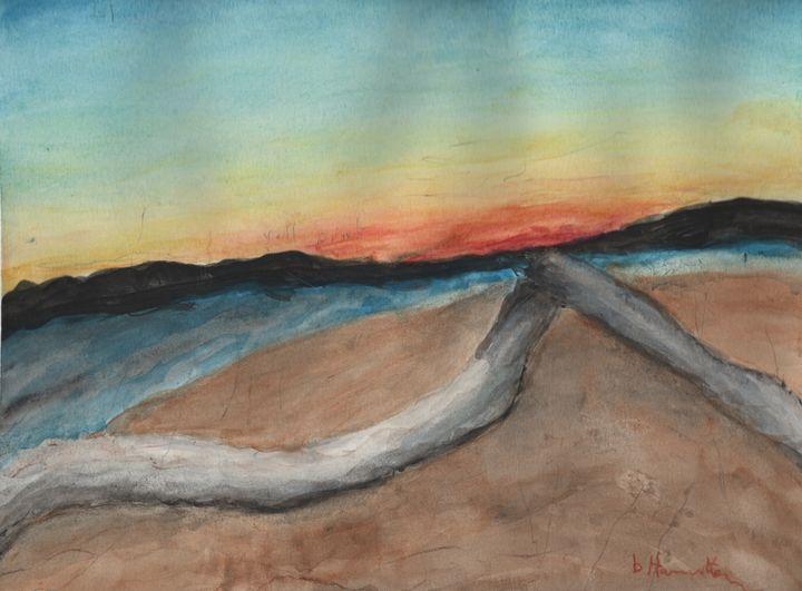 Lake Shore - Watercolours by Brenda