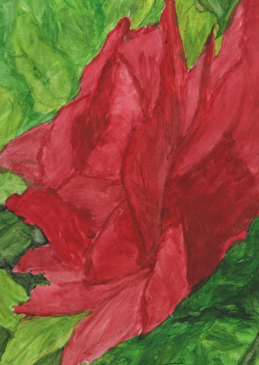 The Rose - Watercolours by Brenda