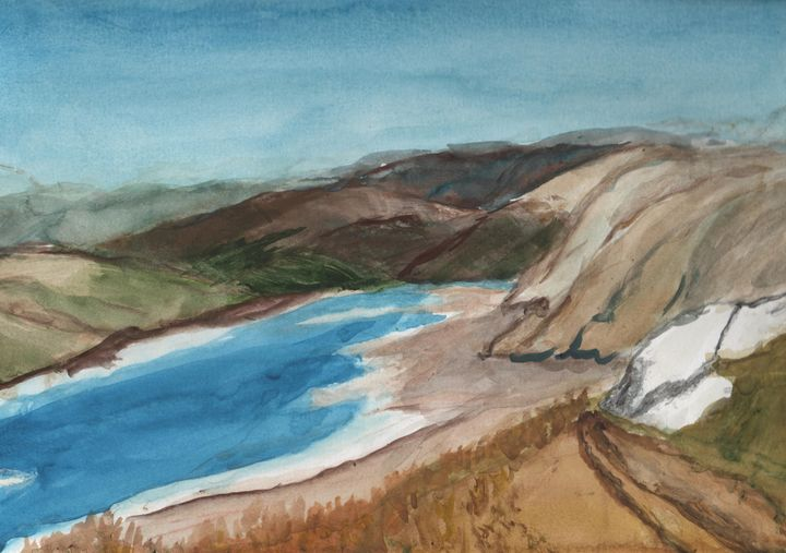 Anachist Lookout, Osooyoos - Watercolours by Brenda