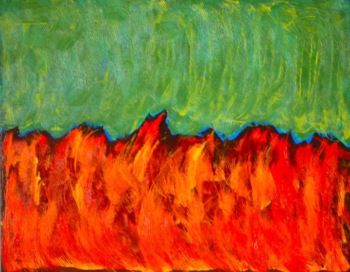 """Fields of Fire"" - chrismcskimmingartist"
