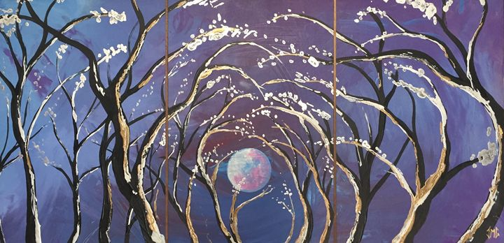 Caressing the moon - Namasté Painting