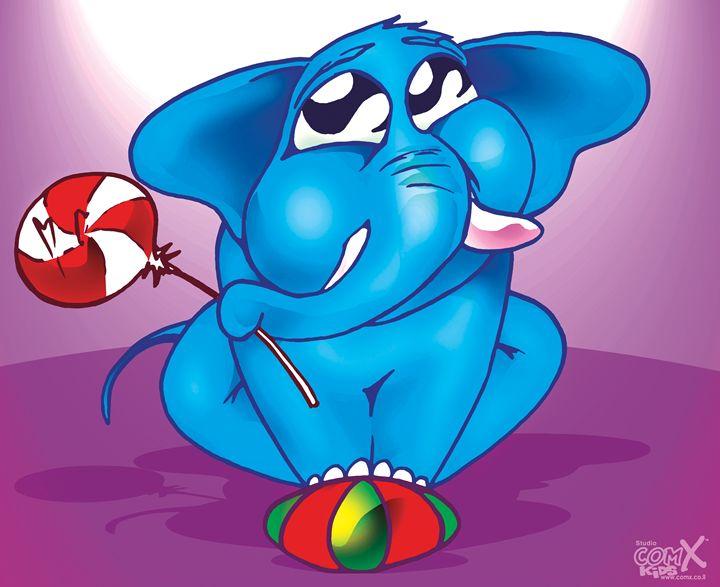 Baby Elephant Blue - Studio ComX