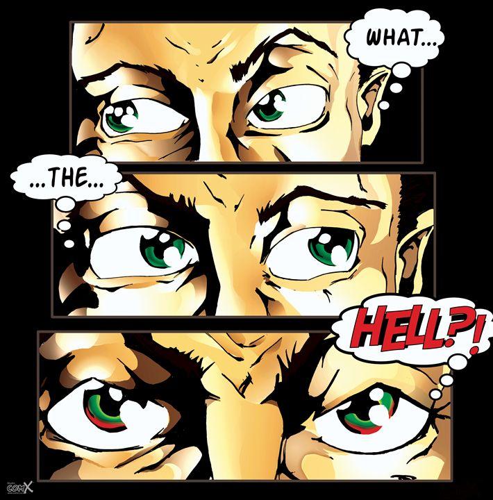 What The Hell Comic Strip Black - Studio ComX