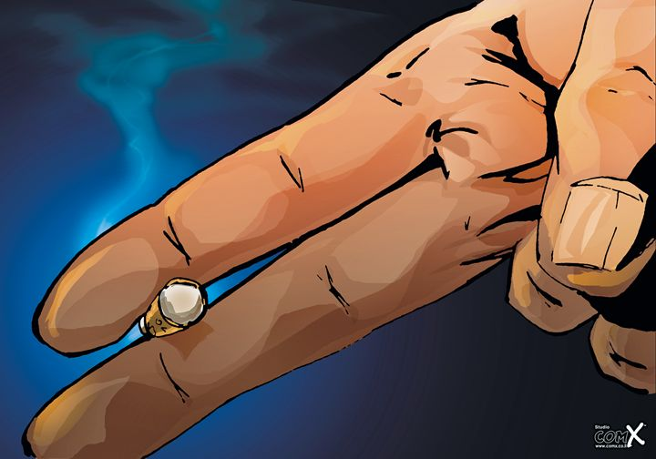 The Hand - Blue - Studio ComX