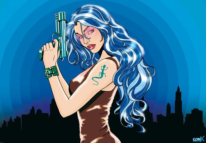 Gun Girl - Blue - Studio ComX