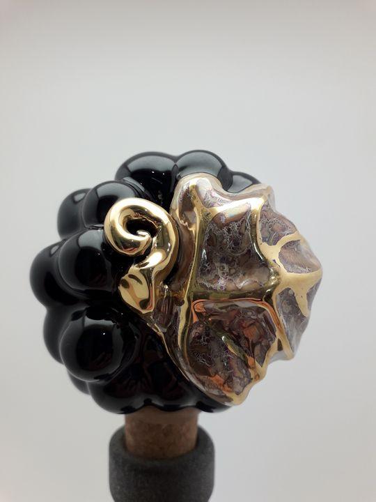Ceramic wine bottle stopper - Stela Ceramics