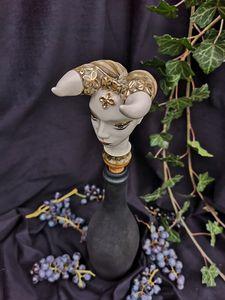 Ceramic wine bottle stopper