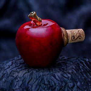 Ceramic apple wine bottle stopper
