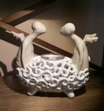 couple in bath candle holder