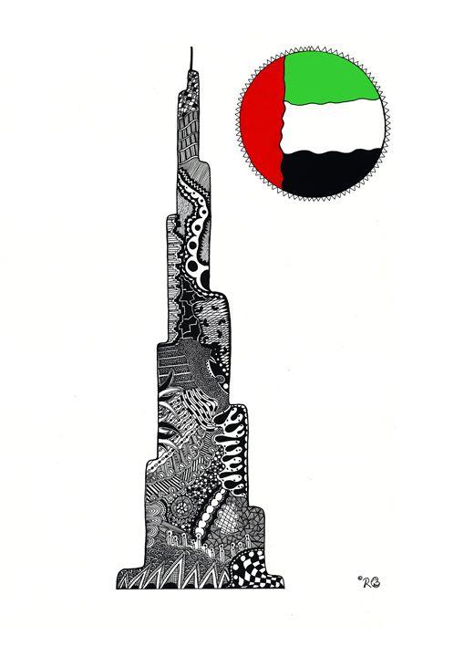 Burj Khalifa Doodle - Rebecca Bear