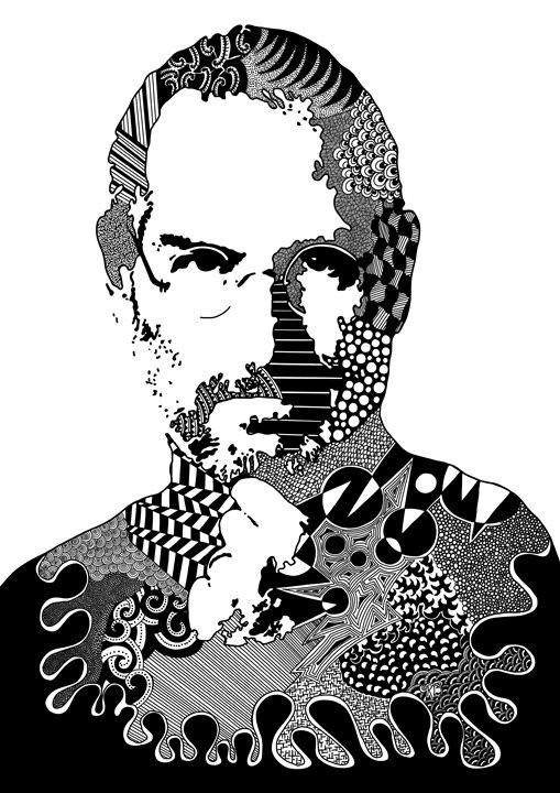Steve Jobs Doodle - Rebecca Bear